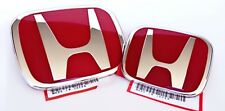 JDM RED FRONT REAR EMBLEM BADGE FOR HONDA CIVIC DX LX SI 2DR COUPE FG 2006-2011
