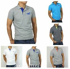 New Hollister HCO by Abercrombie Men Polo Shirts Causal Logo Muscle Fit All size