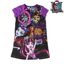 GIRLS LICENSED MONSTER HIGH DRESS NIGHTIE PJ COTTON AVAIL SIZES 7 8 10 12 14