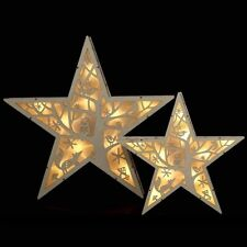 Night Forest LED Wooden Star Light Christmas Decoration Home Party Battery Power