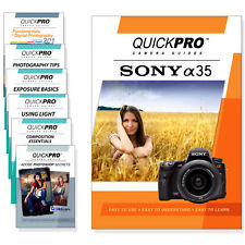 Sony A35 Quickpro Camera Training DVD Instructional SLR Video Guide NEW