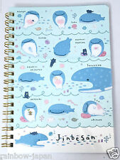 San-X Jinbesan B6 Size Ring Notebook 60sheets New Character From JAPAN