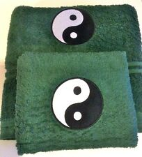 Embroidered Towels Yin/Yang Design Hand and Bath Towels