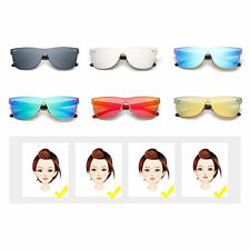 M Nail Decorated Integrated Metal Frame Colorful Lens UV400 Sunglasses SM