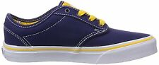 NEW VANS kids shoe- blue with bright yellow laces  cool look for boys  VZNRFP7
