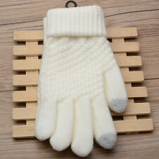 Touch Screen Gloves Women Girl Stretch Knit Mittens Winter Keep Warm Gloves
