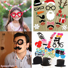 DIY Photo Booth Lips Sticker Tools Mustache Wedding Birthday Christmas Party