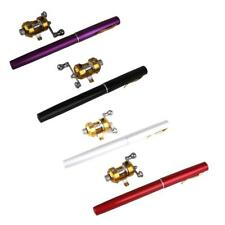 Mini Portable Aluminum Alloy Fishing Rod Pen Fishing Tackle + Fishing Reel