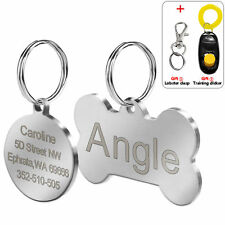 Custom Dog Tags for Pets Round Bone Shape Engraved Dog ID Tags Free Engraving