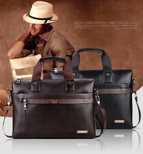Men Genuine PU Leather Handbag Briefcase Tote Laptop Shoulder Bag Messenger Bags