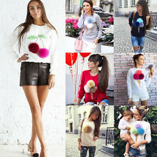 Autumn Women Long Sleeve Casual Loose Pullover Sweaters Tops Jumper Knitwear New