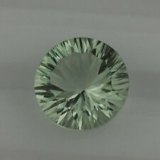 6mm - 20mm Natural Green Amethyst Round Concave Cut Top Quality Loose Gemstone