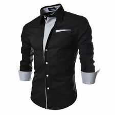 2016 Mens Luxury Stylish Casual Long Sleeve Dress Shirts Slim Fit Shirts