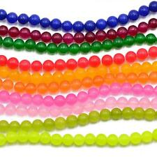 """15"""" Strand Natural Jade Beads Round Gemstone Loose Beads For Jewelry Making 6mm"""