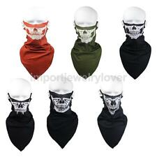 Sport Motorcycle Ski Bike Ghost Skull Neck Face Mask Veil Scarf Headwear Bandana