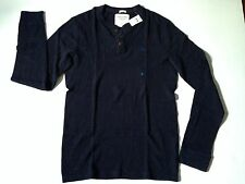 NWT Abercrombie By Hollister Men's Henley Sweater Long Sleeve Tee Shirt Size L