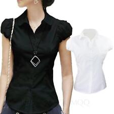 Ladies Work Collared Fitted Casual Hippie Office Top UK sz 6-14