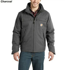 Carhartt Jefferson Quick Duck Traditional Jacket - Quilt Lined - CHARCOAL