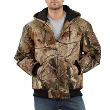 Carhartt Camouflage Active Jacket - Quilted Flannel Lined - REAL TREE XTRA
