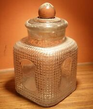 c1930 Rare Old Vintage Miniature Small Size Clear Glass Candy Jar Made in Japan