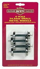 Bachmann-Metal Wheel Set pkg(4) -- Small 24.5mm - G
