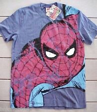 NWT Youth Marvel Comics Spiderman Full Front Blue T Shirt Size L