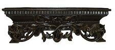 French Inspired Leaf Design Bed Crown in Napoleon Finish Made in USA