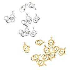 10pcs Sterling Silver Spring Ring Clasp Jewelry Findings 6 mm Gold/Silver