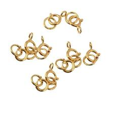10pcs 925 Sterling Silver Spring Ring Clasp Open Attachment Jewelry Finding Gold