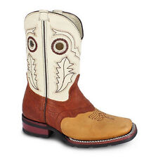 Kids Tan Rodeo Collection Western Leather Cowboy Boots BONANZA 3000 Size 7-1.5