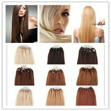 """18""""20""""22""""24"""" Micro Ring Beads Tipped Real Remy Human Hair Extensions 0.5g/s 50s"""