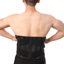 Back Support Lumbar Brace  Metal Support Rods Deluxe Neoprene Breathable Y015