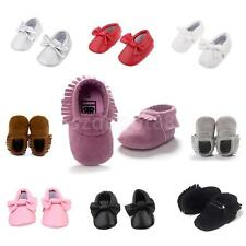Baby Infant Toddler Soft Sole Slip on PU Leather Moccasins Shoes Socks Slippers