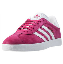 adidas Gazelle Womens Trainers Fucshia White New Shoes