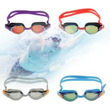 Adult Silicone Swimming Goggles Mask Mirrored Anti-Fog UV Shield Swim Glasses