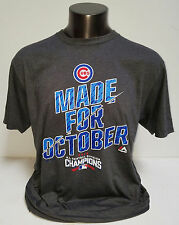 CHICAGO CUBS 2016 Majestic NL Central Division Champs T-Shirt  Made for October