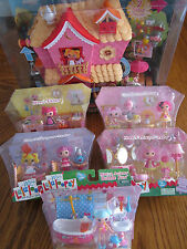 MGA Mini Lalaloopsy Sew Sweet PLAYHOUSE & 5 FURNITURE Sets Treehouse Doll House
