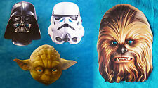 STAR WARS MASK - Darth Vader - Yoda - Stormtrooper - Chewbacca new! For Costume
