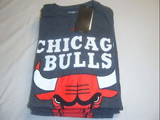 NBA CHICAGO BULLS T-SHIRT GRAY NEW