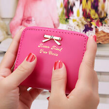 Stylish Women Leather Mini Wallet Card Holder Zip Coin Purse Clutch Handbag New