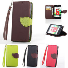 Magnetic Flip Wallet Card Slot Leather Case Cover for LG Optimus L70 Nexus 5