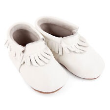 NEW Pre-Walker Leather Moccasins in White by SKEANIE