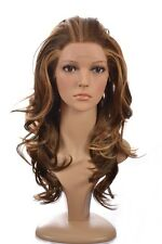 Human Hair Blend Lace Front Wig | Long Wavy Blonde Lace Front Wig | 3 Shades