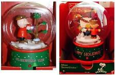 New Peanuts Charlie Brown or Snoopy and Woodstock Christmas Music Mini Snowglobe