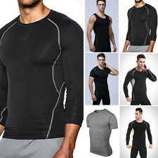 Men's Compression Tee T-Shirts Vest Gym Sport Bicycle Men Tops  Base Layers Sexy