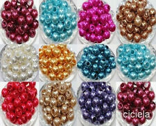 Wholesale Lucite Resin Pearl Round Spacer Loose Beads Jewelry Making 12/18MM