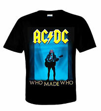 AC/DC T-Shirt WHO MADE who ♫ Heavy Metal ♪ Australian Rock N Roll ♫ Angus Young