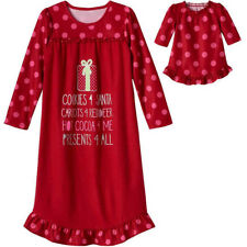 "Girl and Doll Matching Pajamas 4-14 Nightgown fits 18"" American Girl Dollie & Me"