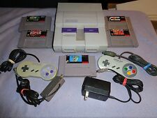 Super Nintendo Entertainment System Console SNES 5 Games Lot Super Mario & MORE!
