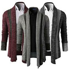 New Men's Fashion Knitted Cardigan Jacket Slim Long Sleeve Casual Sweater Coat
